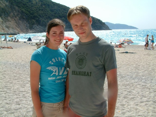 Heather and Dave on honeymoon in Kefalonia, July 2004