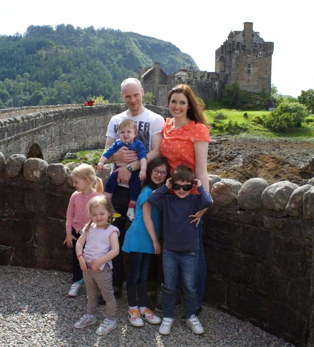 Outside Eilean Donan castle