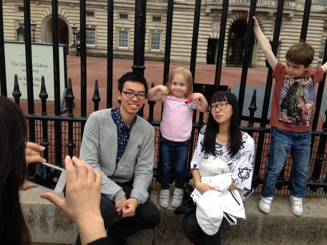 "These tourists kept looking at the kids and trying to take sneaky photos. I made eye contact and they asked if they could take some photos with the kids. They kept saying ""awww baby"" and grabbing Charlotte's cheeks!"