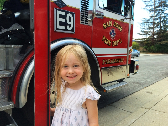 Charlotte and the fire engine