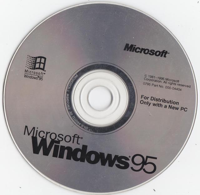 The Windows 95 installation disc