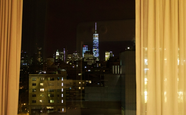 Manhattan from the hotel room