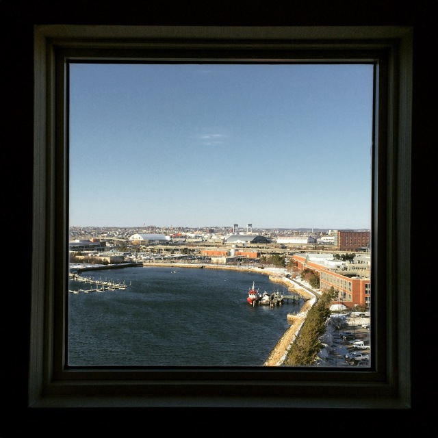 Boston harbor from the hotel