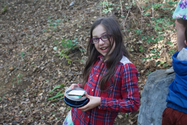 Eve finds the Geocache