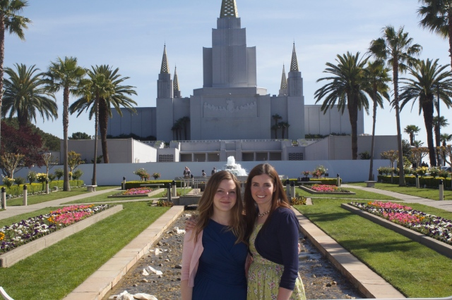 Sisters at the Oakland Temple