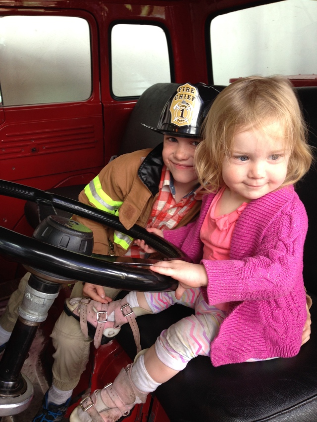 Riding in a fire engine