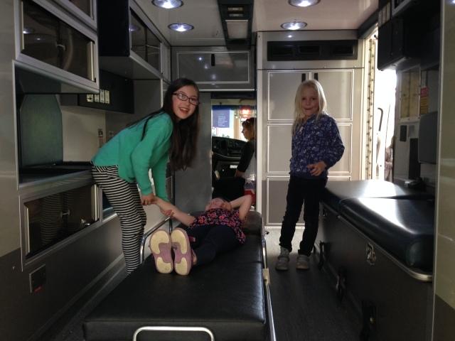 The ambulance crew treat Charlotte